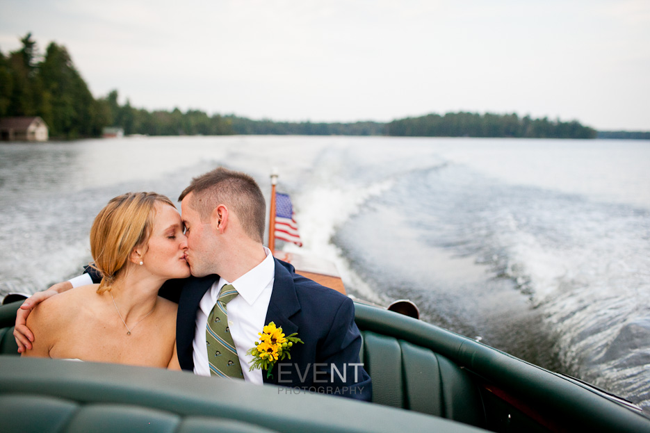 Vermont wedding photographer monica donovan shoots a portrait of jen and nate at upper saranac lake, new york.