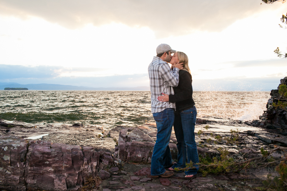 Vermont proposal at Oakledge Park by Vermont Wedding Photographers.