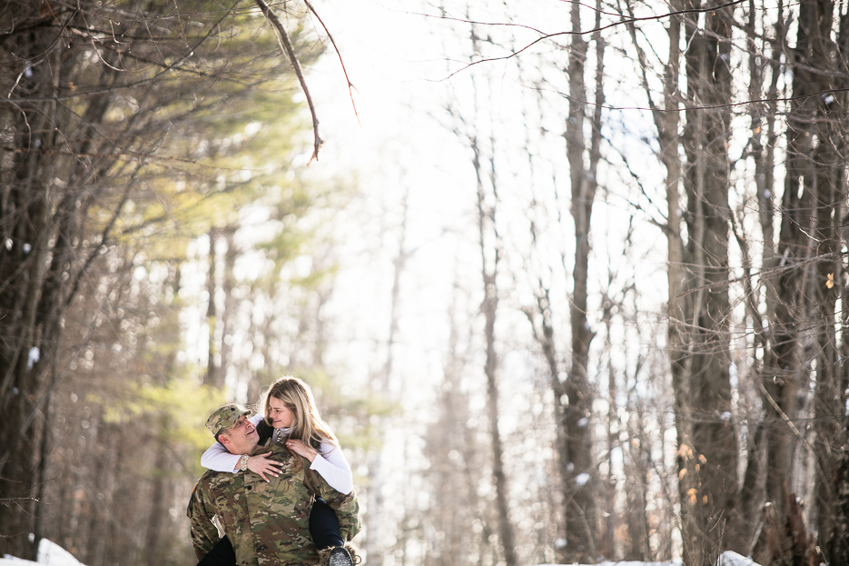 Vermont wedding engagement session