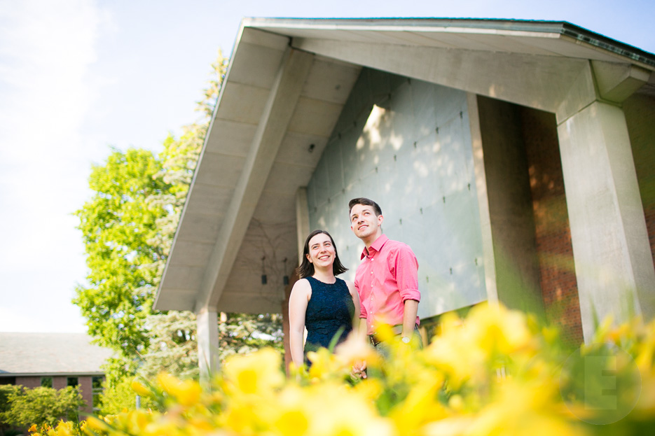Vermont engagement session at St Mike